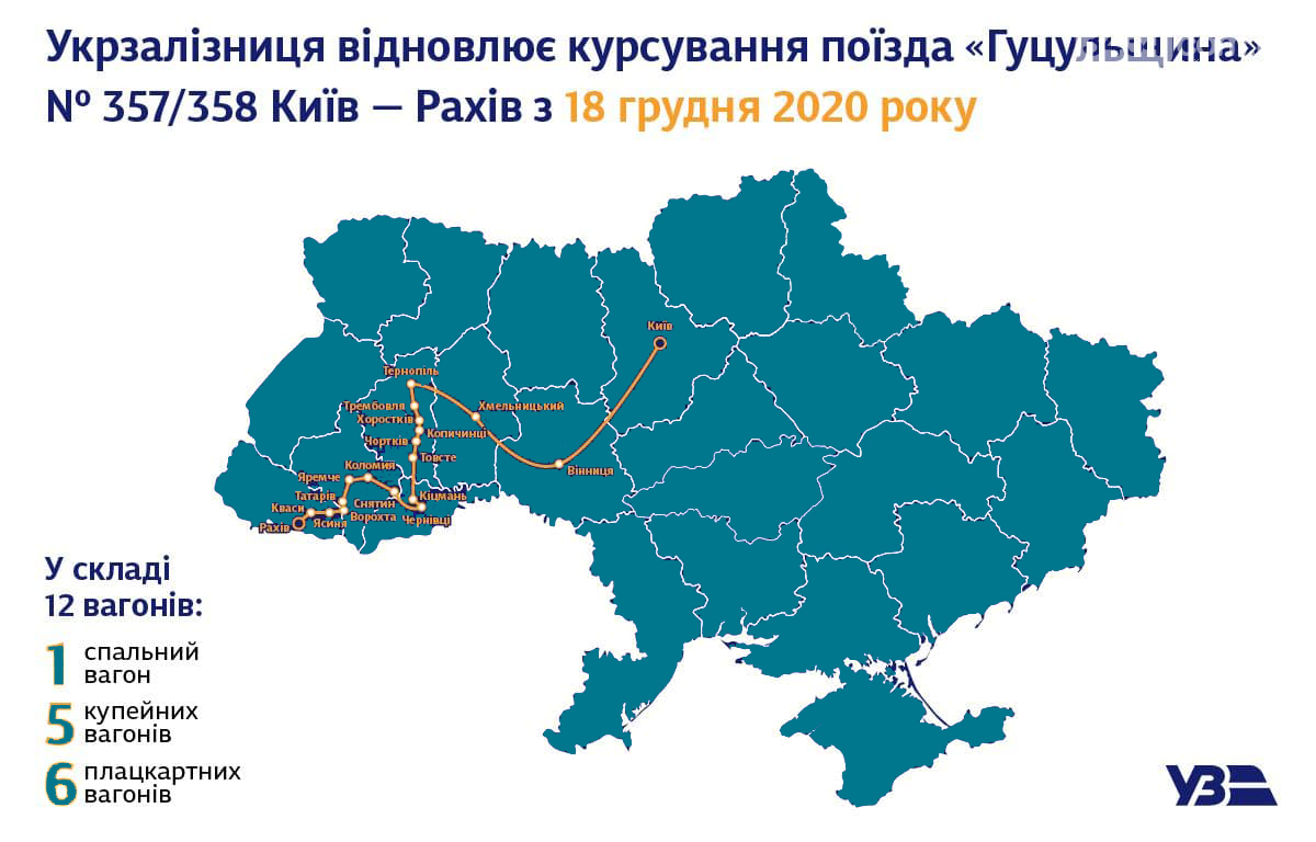 Маршрут поїзда Київ-Рахів, Сайт Яремче та Ворохти